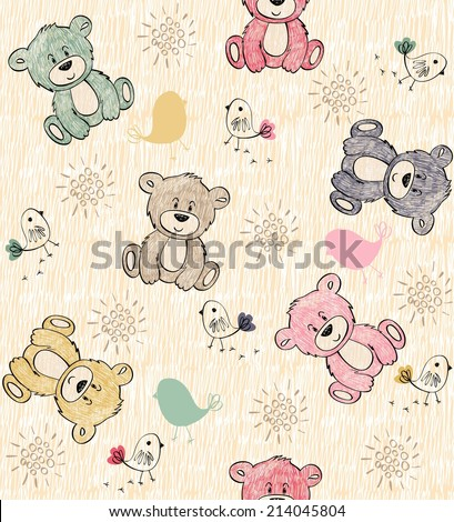 cute hand draw seamless pattern