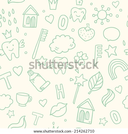 vector seamless cute pattern