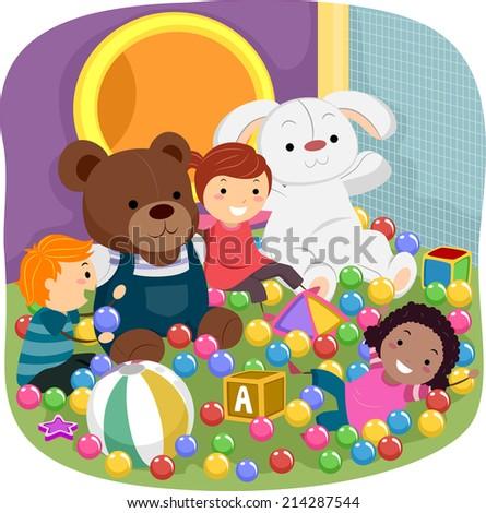 illustration featuring kids
