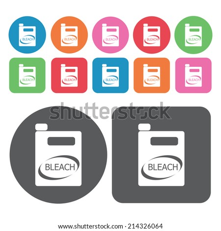 bleach icons set round