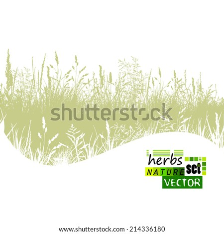 grass silhouette wave