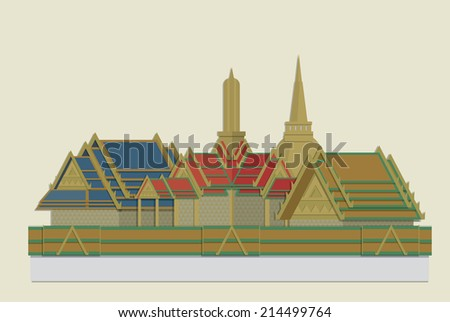 vector of grand palace  bangkok