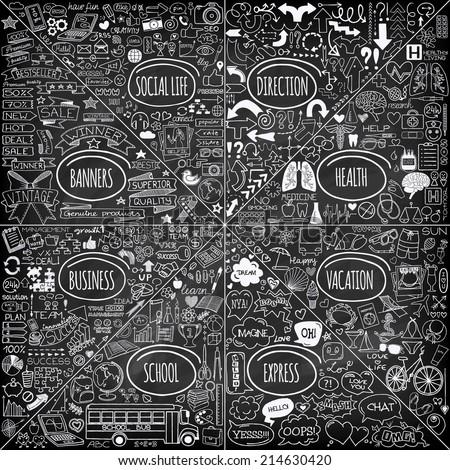 mega set of doodle social