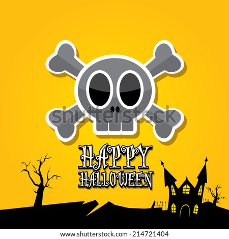 vector happy halloween card
