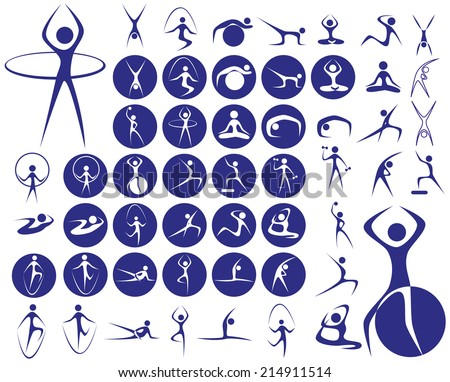 icons with symbols of people in