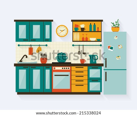 kitchen with furniture and long