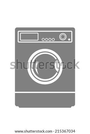 washing machine on white
