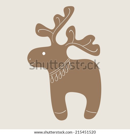 christmas decorated reindeer
