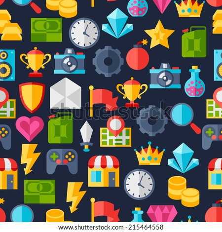 seamless pattern with game