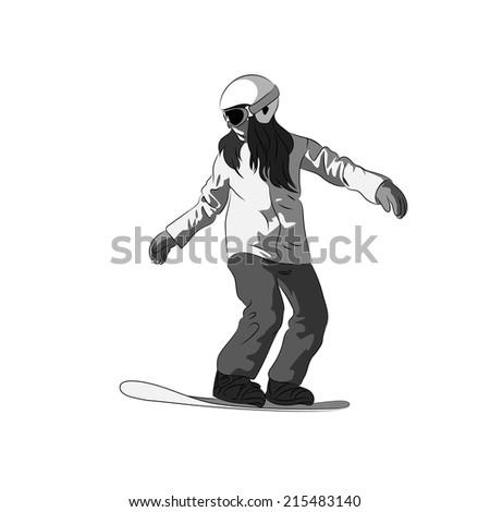 snowboarder sliding down