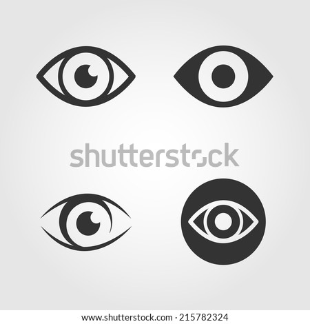 eye icons set  flat design