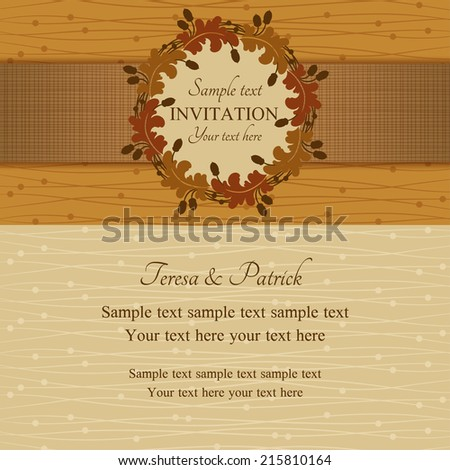 autumn or summer invitation