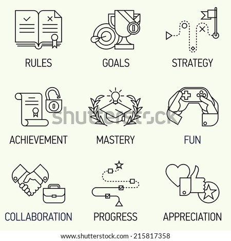 creative marketing line art