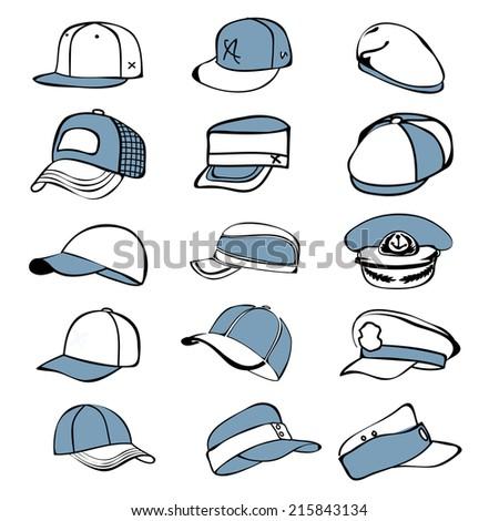 cap set isolated on hat icon