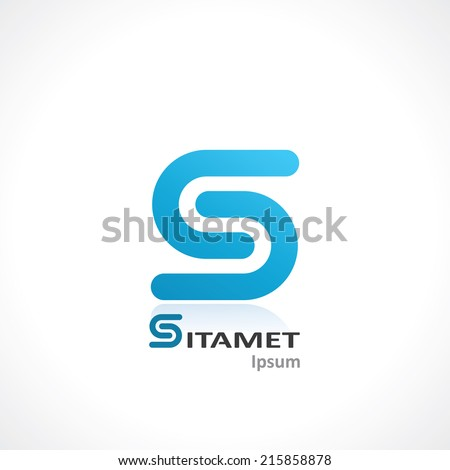abstract symbol of letter s