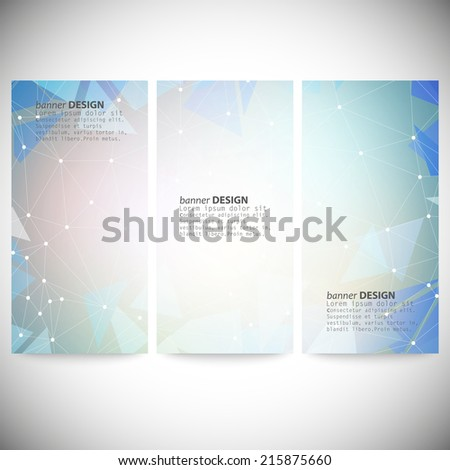 set of vertical banners with