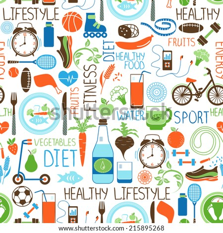 sport  diet and fitness vector