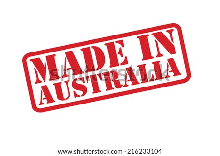 made in australia rubber stamp