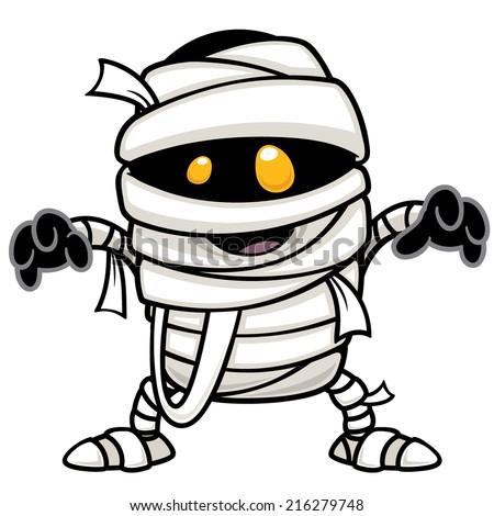 vector illustration of mummy