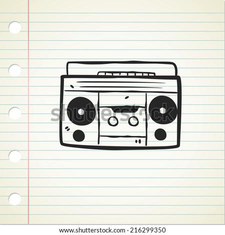 Download Cartoon Boombox Wallpaper 240x320 | Wallpoper #110654