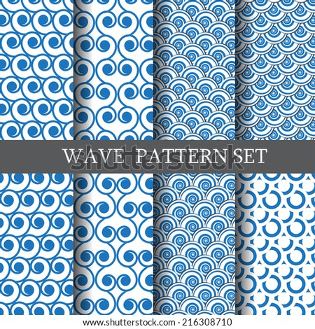 classic wave vector seamless
