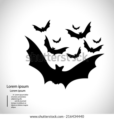 halloween bat vector background