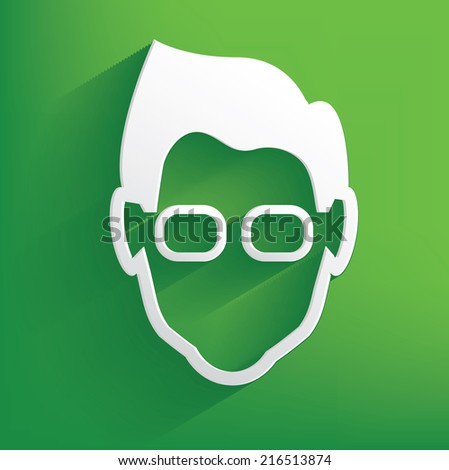 nerd symbol on green background