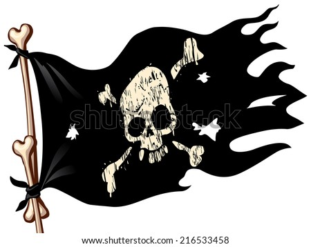 waving flag with jolly roger