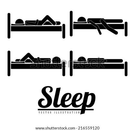 sleep design over white