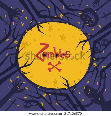 vector background for halloween