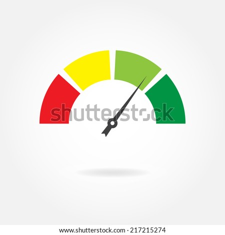 speedometer icon or sign with