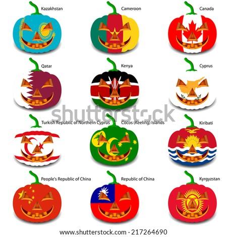 set pumpkins for halloween as a