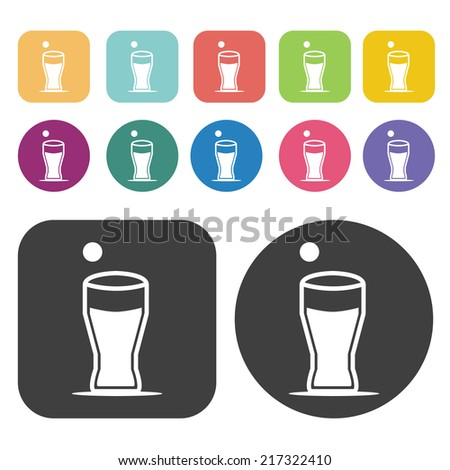 soda glass icons party beer