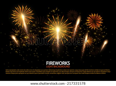 abstract colorful fireworks