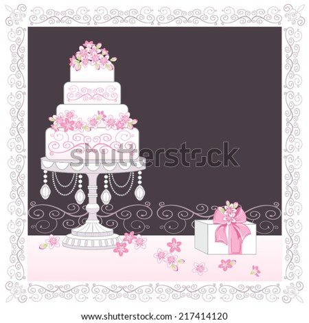 decorated layer cake vector