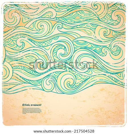 abstract waves background  for