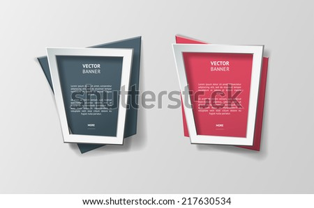 vector infographic banners set