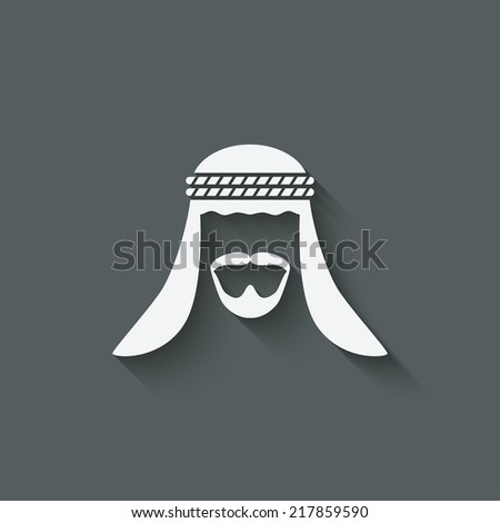 arabic man avatar   vector
