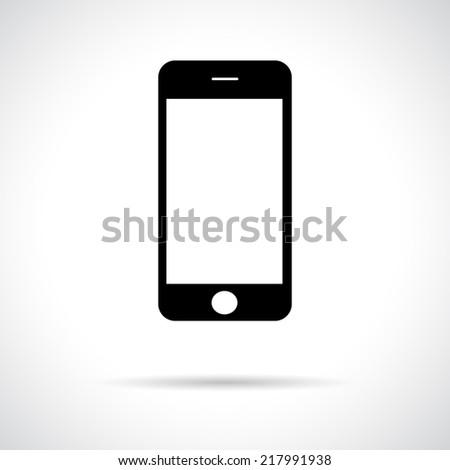 mobile smart phone black icon