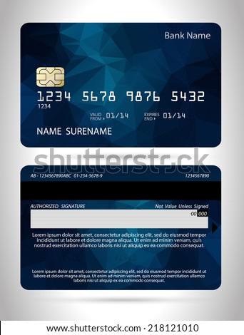 templates of credit cards