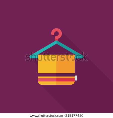 towel hanger flat icon with
