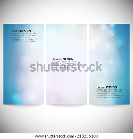 set of vertical banners