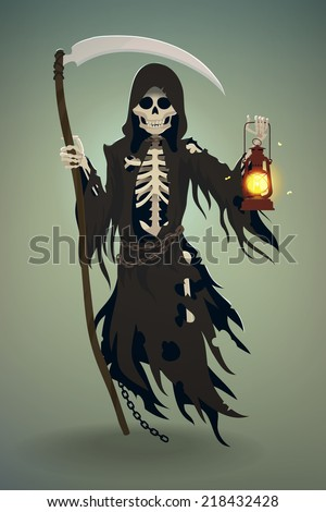 vector flat cartoon death