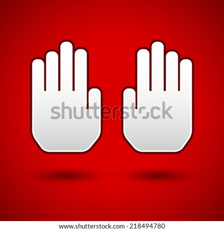 stop hand gesture stop