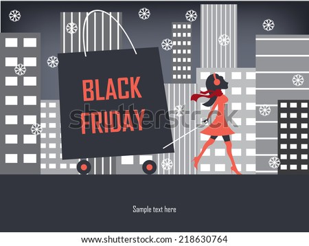 black friday shopping poster or