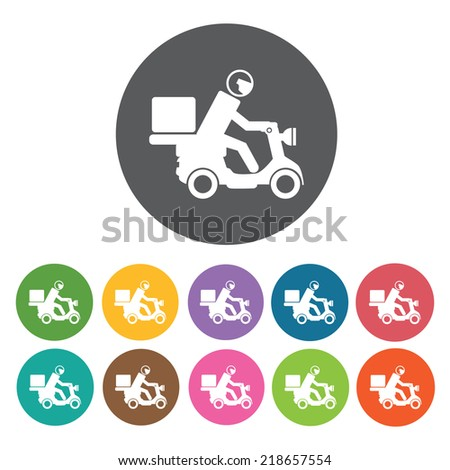 motor bike delivery icon