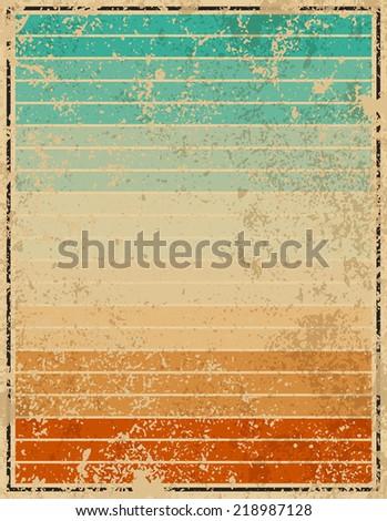 set of summer vintage  vector