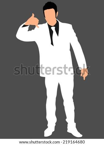 successful businessman in white