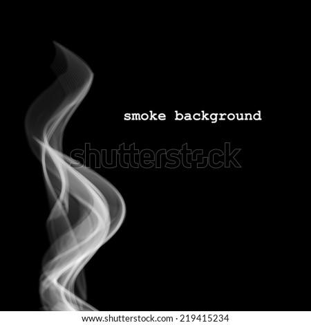abstract smoke isolated on