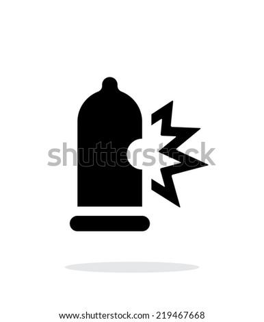 condom bursting icon on white